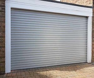 Gliderol steel non-insulated, double size roller shutter garage door