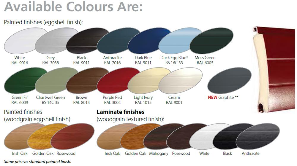 gliderol insulated roller door colours