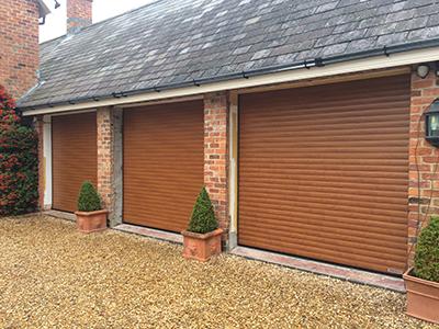 SeceuroGlide roller garage doors rise vertically in white