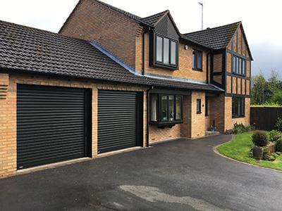 SWS SeceuroGlide garage doors as a pair of single doors
